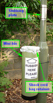 Mini-bin labeled